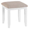 St Ives Hand-Painted White Dressing Stool