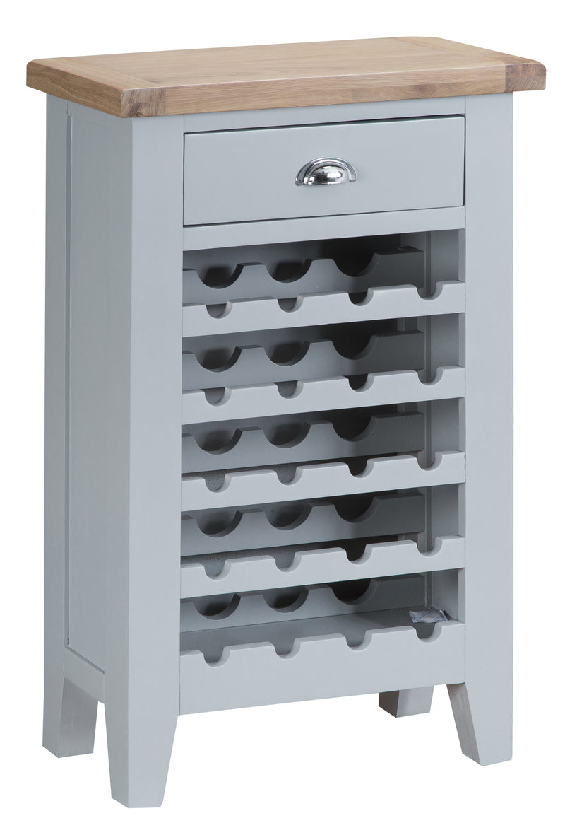 St Ives Hand-Painted Grey Wine Cabinet