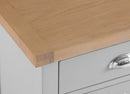 St Ives Hand-Painted Grey Extra Large Bedside Table