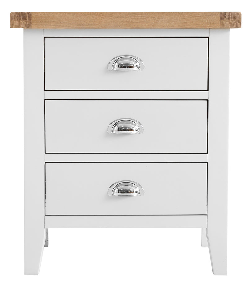 St Ives Hand-Painted White Extra Large Bedside Table