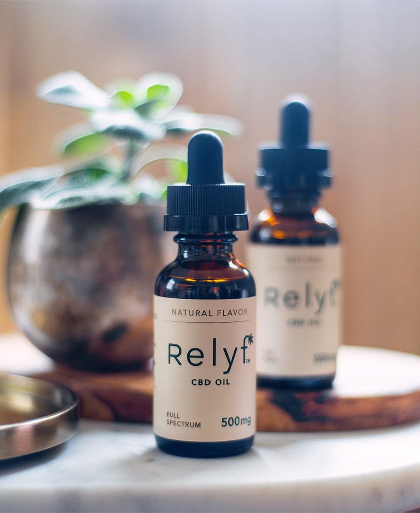 Relyf 500mg Full Spectrum Natural CBD Oil Tincture
