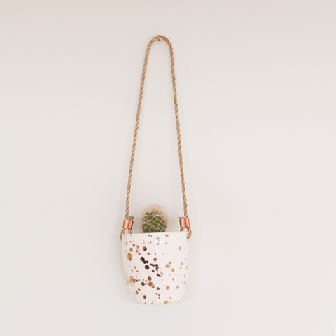 Splatter Paint Hanging Planter