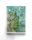 Abel Tasman national park illustrated map