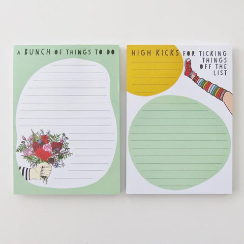 'Flowers and High kicks' notepads