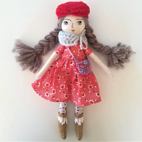 Tiny Pocket - Linen Art Doll