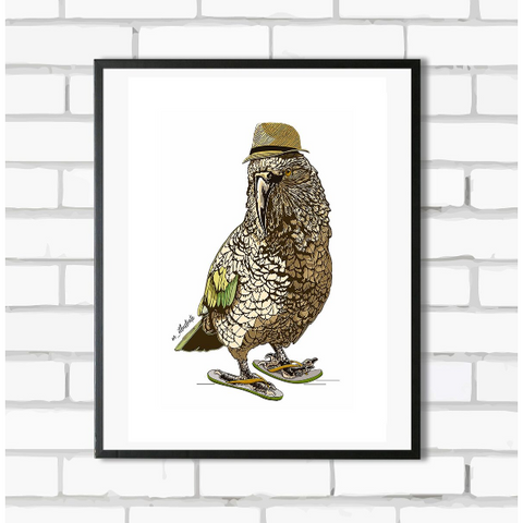 Cool Kea Art Print