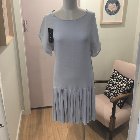 Rayon drop hem dress