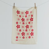 NZ Manuka Flower Print Tea Towel