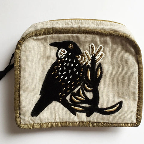 Tui black velvet cosmetic bag