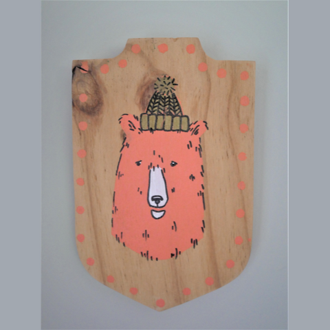 Wooden Bear Plaque