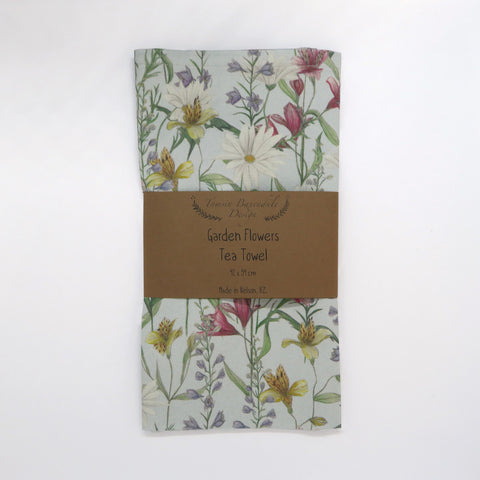 Garden Flowers Tea Towel