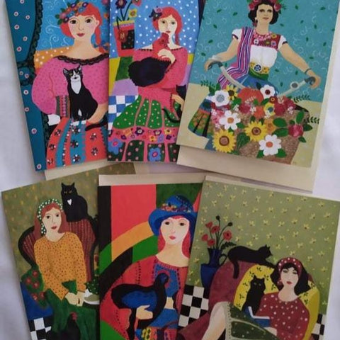 Kate Cowan Art 6x cards