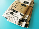 Taupata Leaf print Tea towel