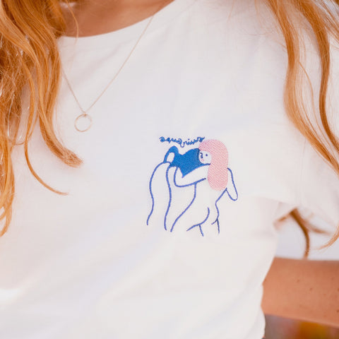 EMBROIDERED AQUARIUS T-SHIRT