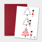 PACK OF 3 CHRISTMAS GREETING CARDS (A5)