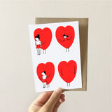 Pack of 3 Love Greeting Cards (A6)