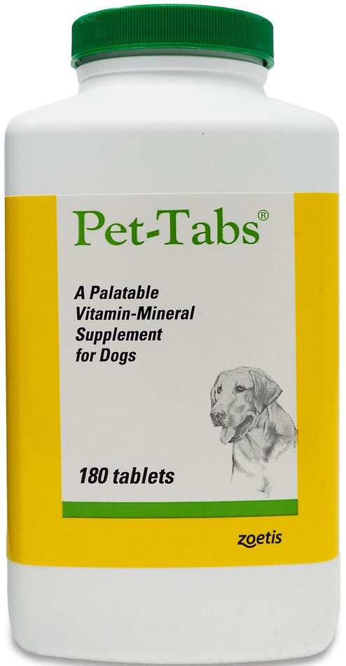 Pet-Tabs Vitamin-Mineral Dog 180 Tabs
