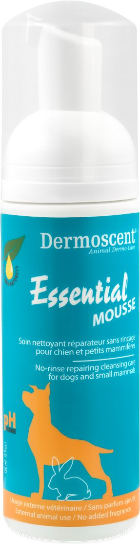 Dermoscent Essential Mousse Rinse-Free Dog Cleanser, 5-oz bottle