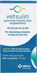 Vetsulin Insulin U-40 for Dogs + Cats 10-mL (REFRIGERATED)