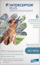 Interceptor Plus Chewable 50.1-100 lbs 6 treatments (Blue Box)