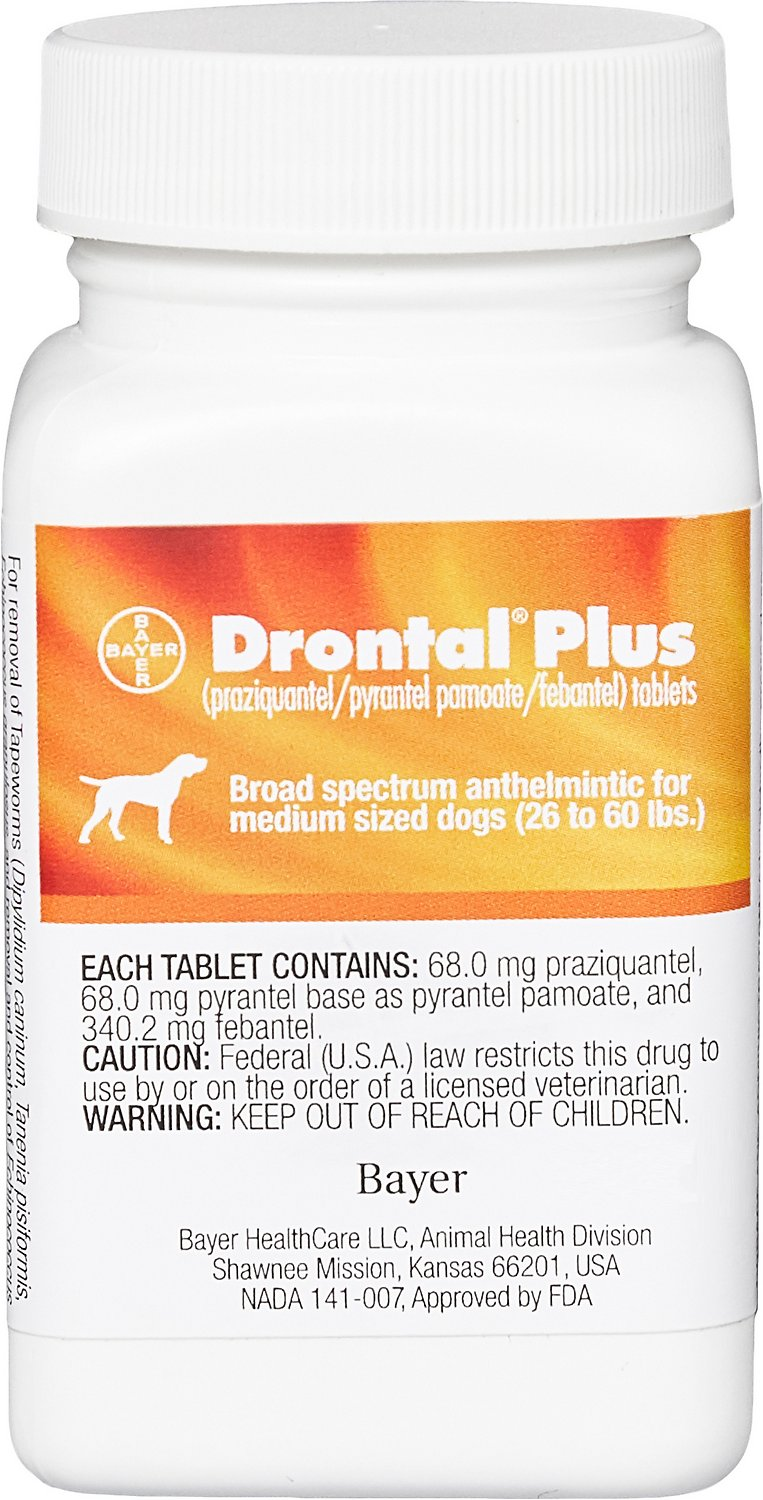 Drontal Plus Tablets for Dogs 2 Pills/3 Pills