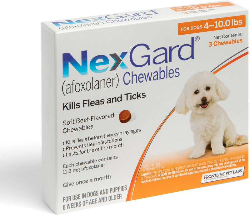 NexGard Chewable Tablets for Dogs 4-10 lbs