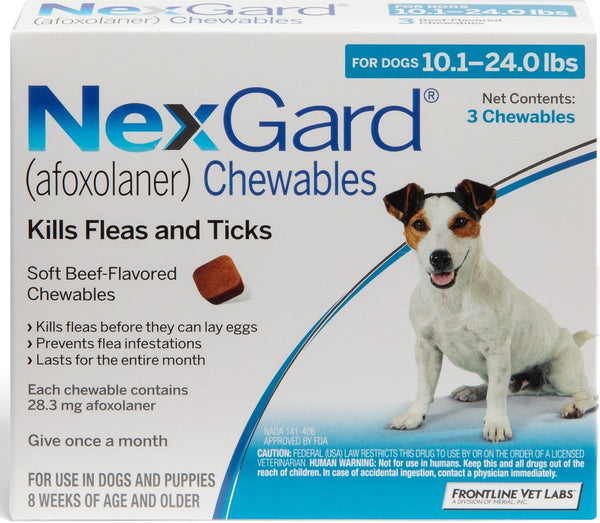 NexGard Chewable Tablets for Dogs 10.1-24 lbs