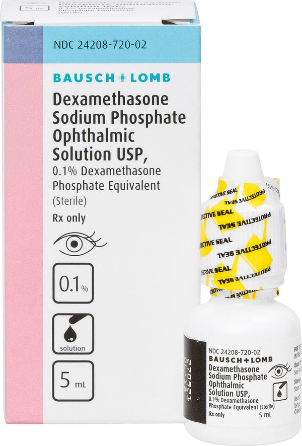 Dexamethasone Ophthalmic 0.1% Solution 5-ml Bottle