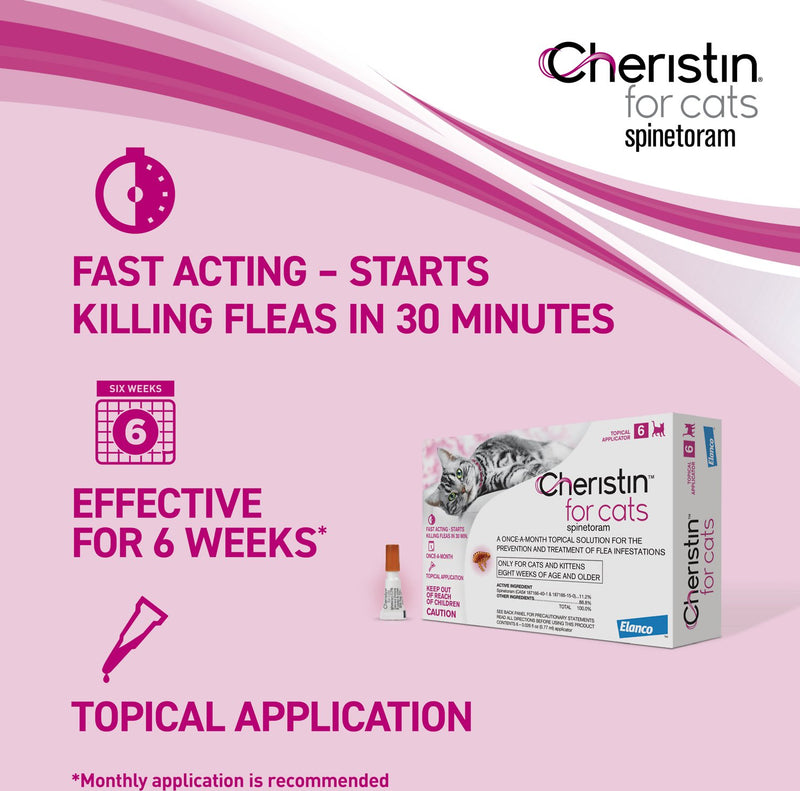 Cheristin Flea Treatment Topical For Cats Over 1.8 lbs