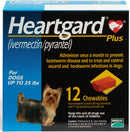 Heartgard Plus Chewable Tablets for Dogs up to 25 lbs (Blue Box)
