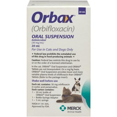 Orbax Oral Suspension for Dogs & Cats 30 mg/mL 20-mL