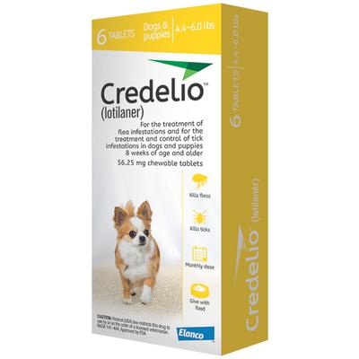 Credelio Chewable Tablets 4.4-6lbs 6 treatments (Yellow box)