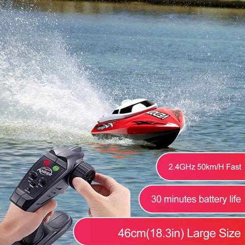 emote-Control-Boat!! 2.4GHz 35km/H Fast!! 200m Control Distance!13.8in Large Size