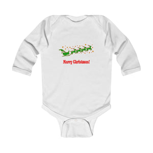 Santa Sled Infant Long Sleeve Bodysuit
