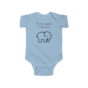 Tiny Elephant Infant Fine Short Sleeve Bodysuit