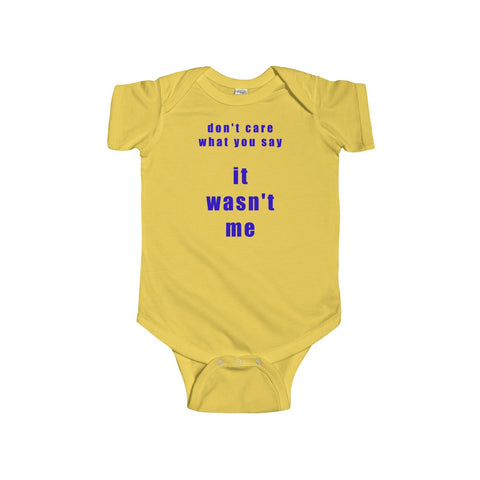 Wasn't Me BT Infant Short Sleeve Bodysuit