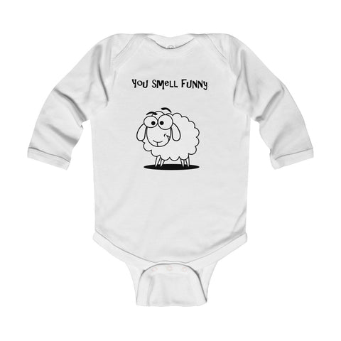 You Smell Funny UK BT Infant Long Sleeve Bodysuit