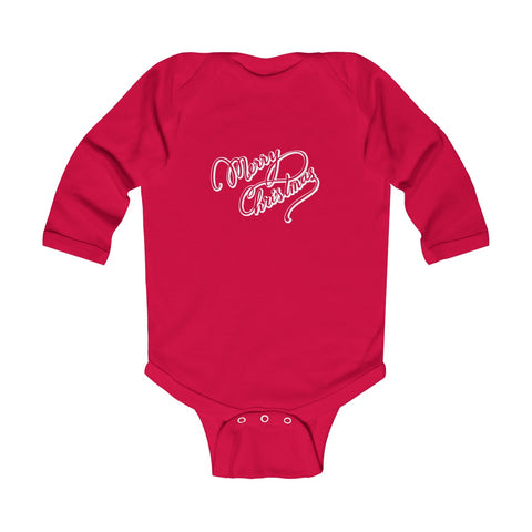 Just Merry Christmas Infant Long Sleeve Bodysuit