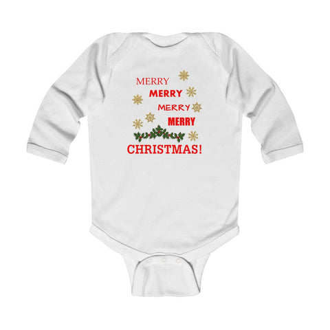 Merry Merry Merry Infant Long Sleeve Bodysuit