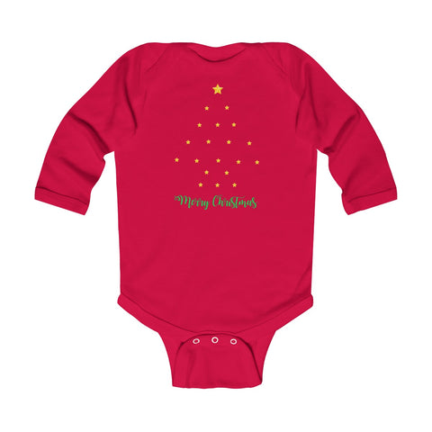 Starry Christmas Tree Infant Long Sleeve Bodysuit