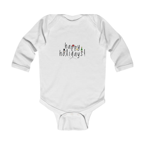 Happy Holidays Infant Long Sleeve Bodysuit