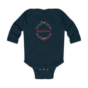Stylish Merry Christmas Infant Long Sleeve Bodysuit