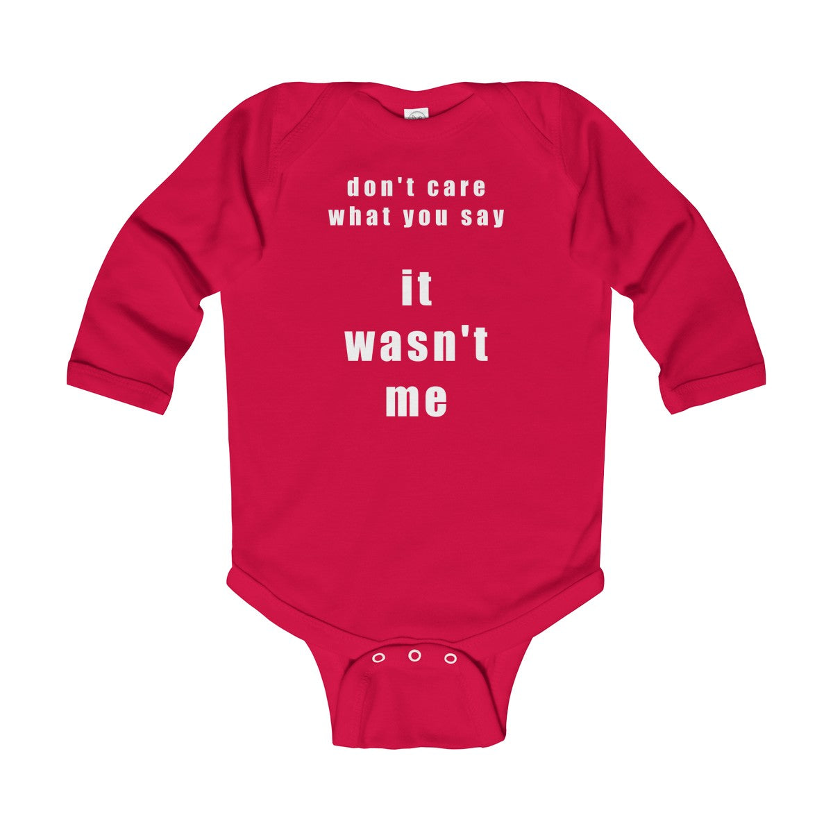 Wasn't Me WT Infant UK Long Sleeve Bodysuit