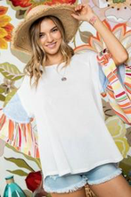 Load image into Gallery viewer, Boho Striped Ruffled Sleeve Top
