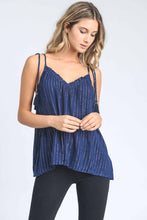 Load image into Gallery viewer, Tassel That Navy Striped Tank