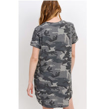 Load image into Gallery viewer, The Perfect Camo Tee Dress
