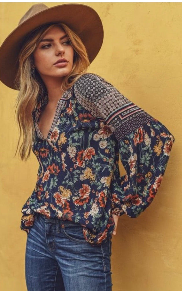 One Fine Day Floral Top