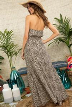 Load image into Gallery viewer, Feisty Leopard Halter Neck Maxi