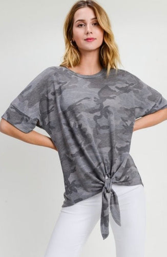 Hunter Camo Knot Tie Top