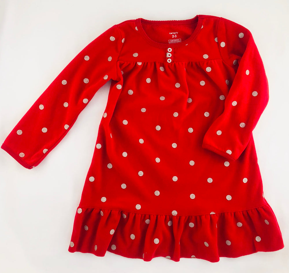 Carter's Red Fleece Dress
